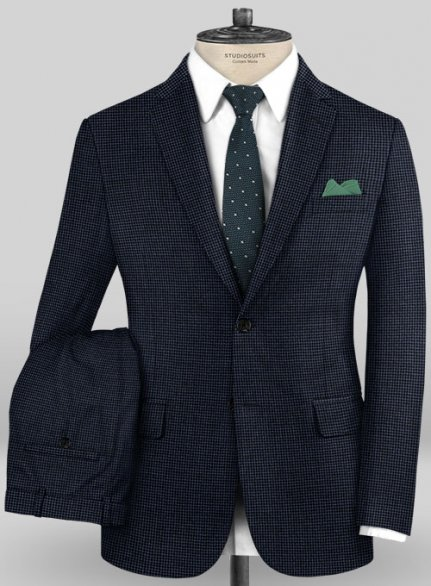 Caccioppoli Fresco Wool Blue Dimati Suit