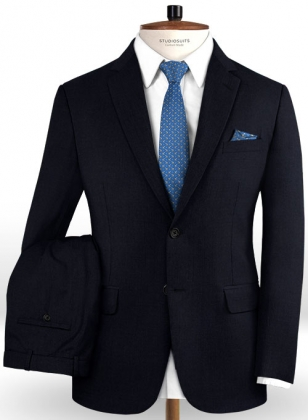 Reda Navy Blue Pure Wool Suit