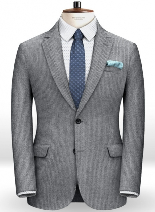 Gray Thick Corduroy Jacket
