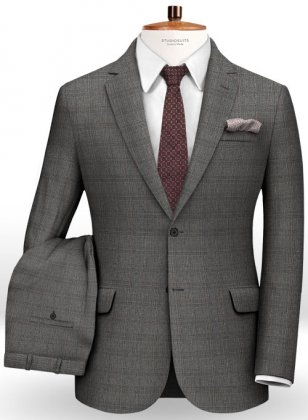 Glen Wool Gray Suit
