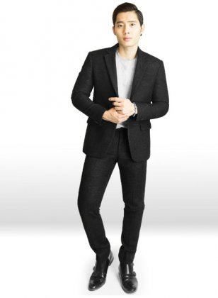 Light Weight Twilight Black Tweed Suit