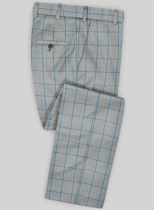 Scabal Mosaic Ciatto Gray Wool Pants