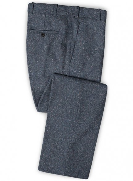 Runway Blue Flecks Donegal Tweed Pants