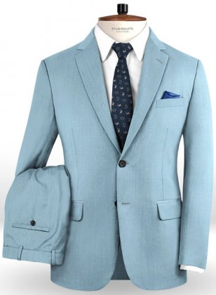 Napolean Taj Blue Wool Suit