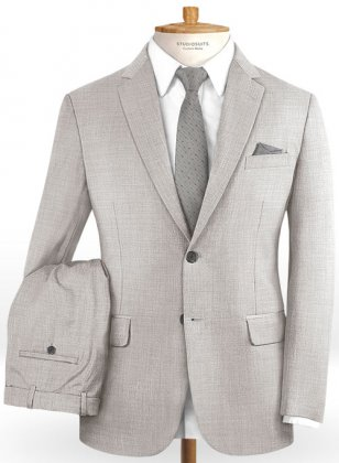 Stretch Light Gray Wool Suit