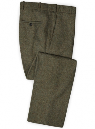 Showman Green Tweed Pants