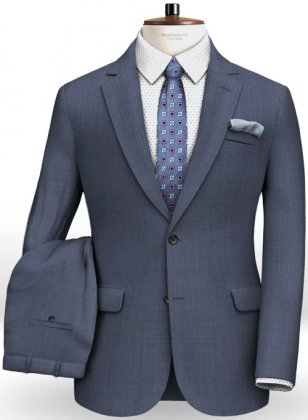 Napolean Tom Blue Wool Suit