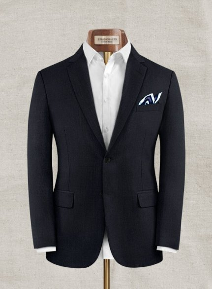 Zegna Selio Dark Navy Wool Jacket