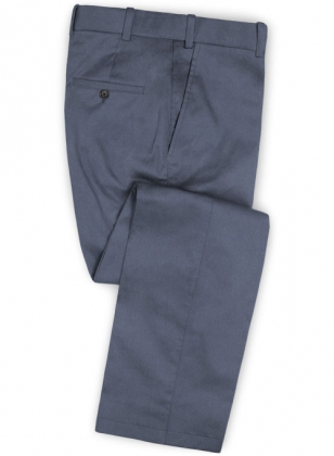 Slate Blue Stretch Chino Pants