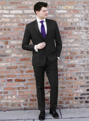 Signature Black Pure Wool Suit