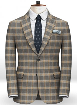 Parma Gray Feather Tweed Jacket