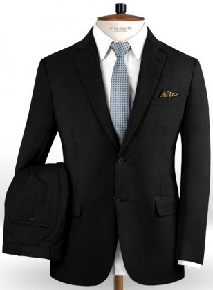 Reda Black Pure Wool Suit
