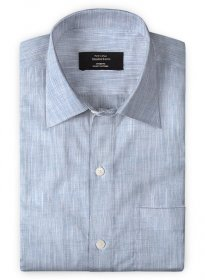 Blue Slub Cotton Shirt