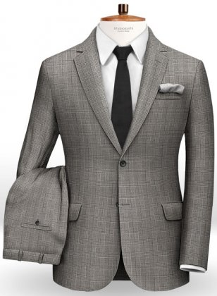 Glen Cotton Wool Stretch Suit