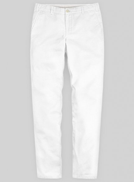 Washed Heavy White Chino Pants