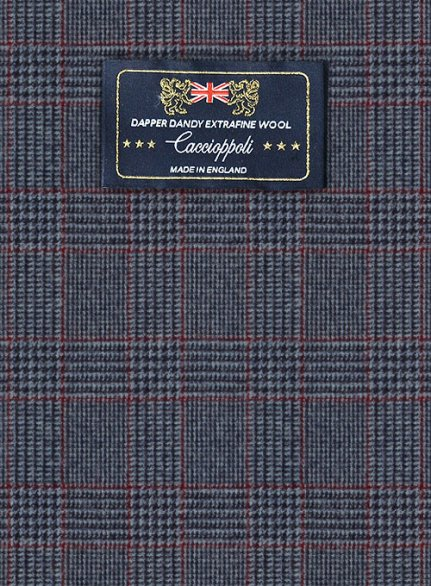 Caccioppoli Dapper Dandy Bella Blue Wool Suit