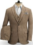 Irish Brown Herringbone Tweed Suit