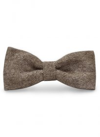 Tweed Bow - Brown Tweed