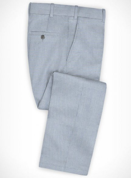 Cotton Stretch Rullo Blue Pants