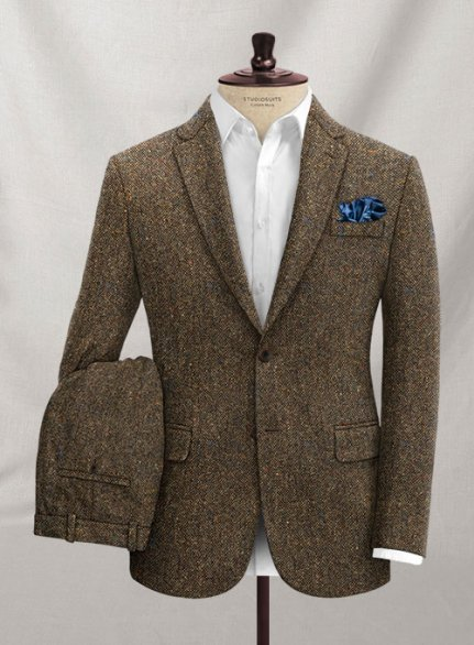 Caccioppoli Donegal Brown Tweed Suit
