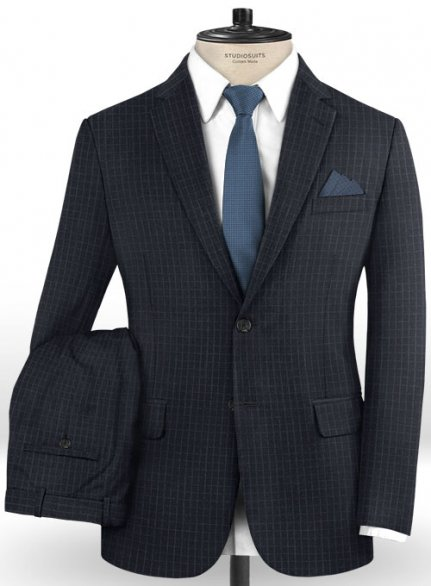 Reda Mecra Blue Wool Suit