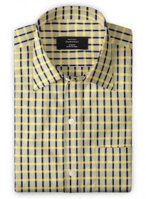 Giza Bar Yellow Cotton Shirt