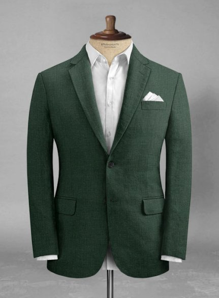 Martini Green Pure Linen Jacket