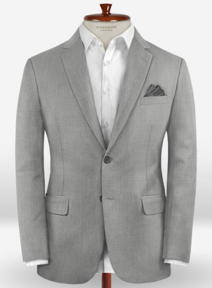 Zegna Traveller Light Gray Wool Jacket