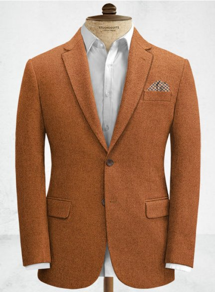Melange Rust Tweed Jacket