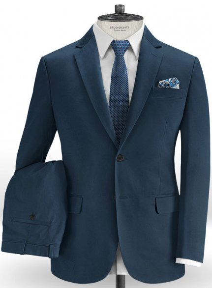 Royal Blue Stretch Chino Suit