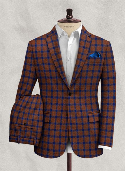 Italian Dislas Rust Tweed Suit