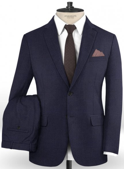 Caccioppoli Dapper Dandy Capala Blue Wool Suit