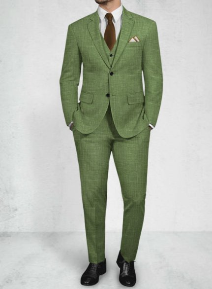 Trendy Fashionable Colors Wool Linen Suits