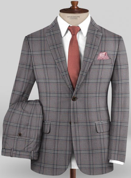 Scabal Mosaic Dolpi Brown Wool Suit