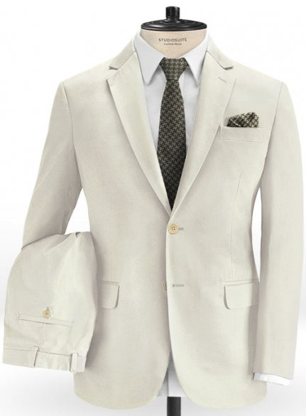 Light Beige Stretch Chino Suit
