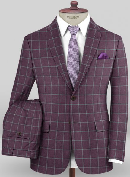 Scabal Mosaic Finito Iris Wool Suit