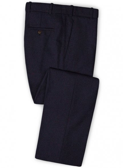 Dark Violet Heavy Tweed Pants