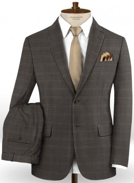 Reda Birca Brown Wool Suit