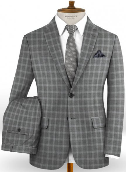 Reda Hirso Gray Wool Suit