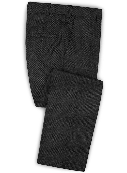 Caccioppoli Dapper Dandy Lead Gray Wool Pants - Click Image to Close