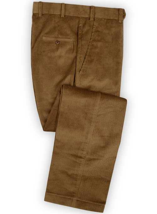 Camel Thick Corduroy Pants Studiosuits Made To Measure