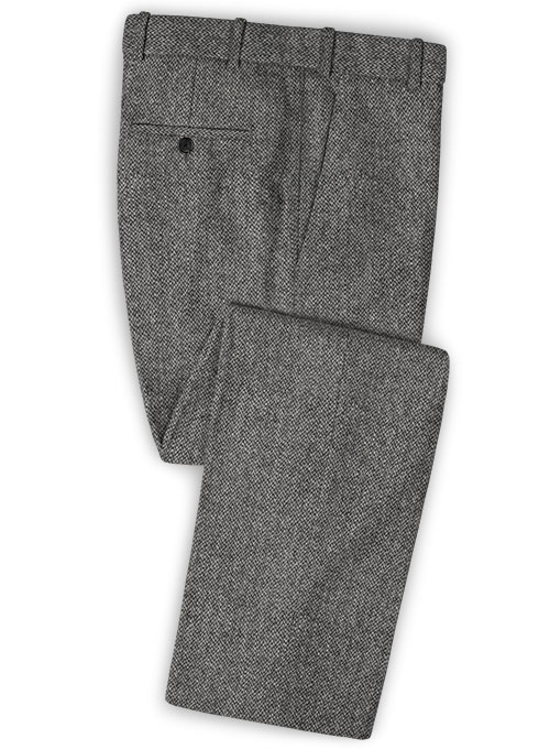 Harris Tweed Barley Gray Pants - Click Image to Close