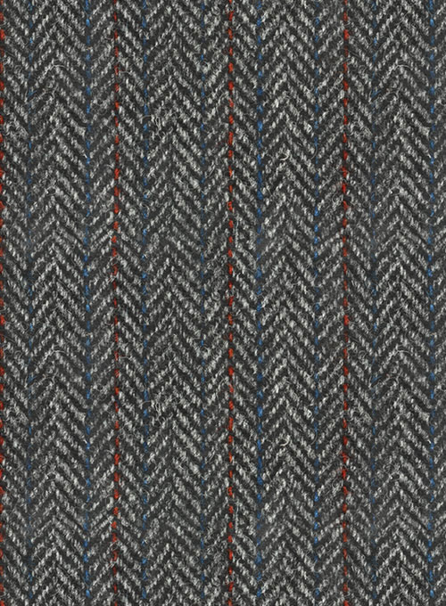 Harris Tweed Gray Stripe Pants - Click Image to Close