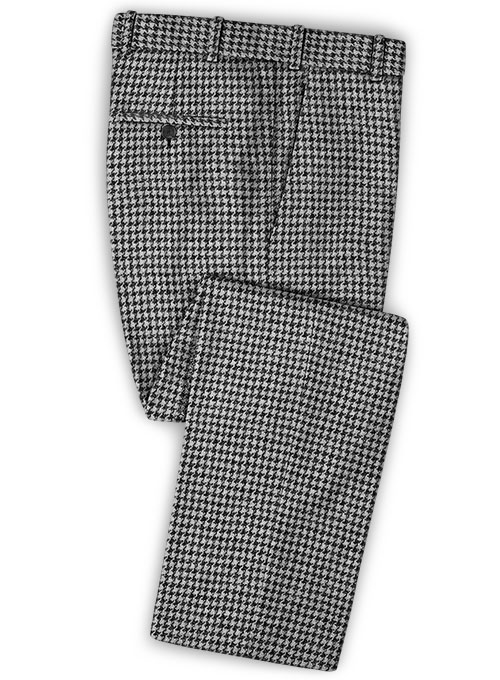 Harris Tweed Houndstooth Light Gray Pants - Click Image to Close