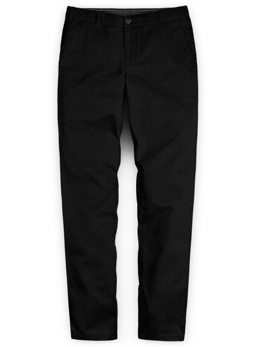 Washed Heavy Black Chinos - Click Image to Close