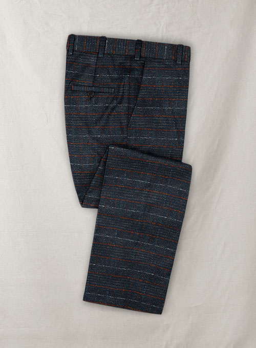 Italian Wool Cotton Stretch Oiata Pants - Click Image to Close
