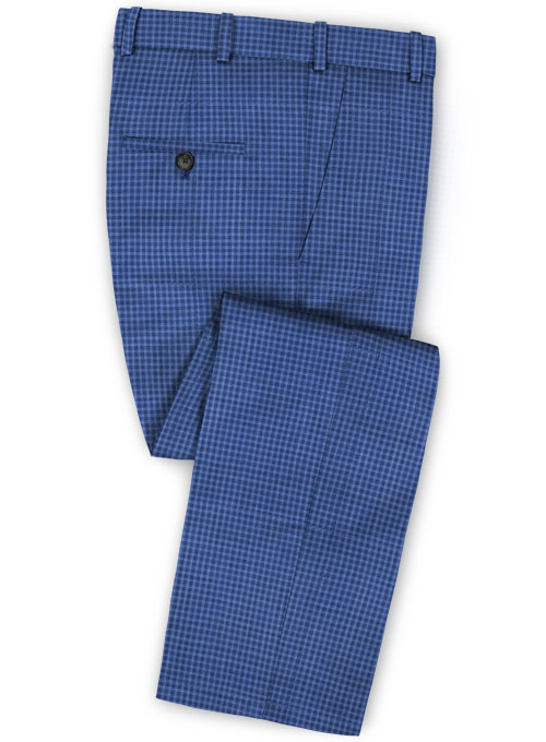 Napolean Cozy Blue Wool Pants - Click Image to Close