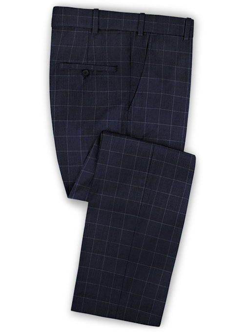 Napolean Criss Blue Wool Pants - Click Image to Close