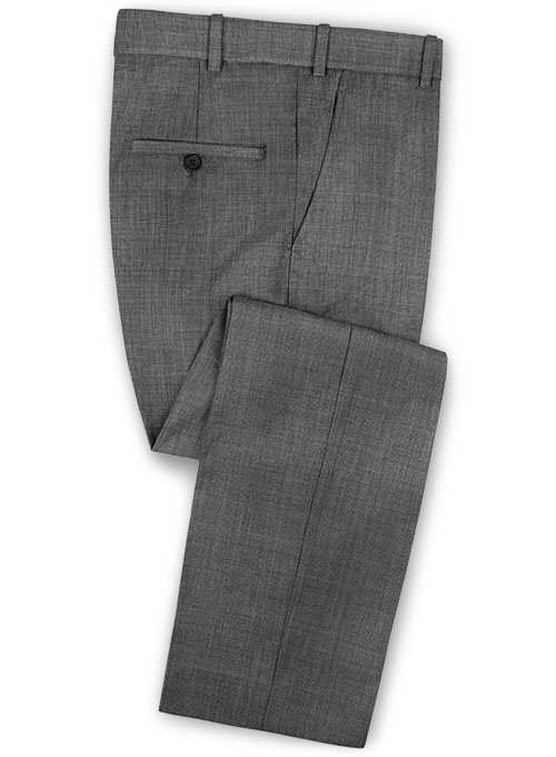 Napolean Gray Pinhead Wool Pants - Click Image to Close