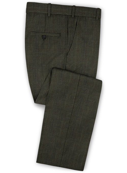 Napolean Tartan Green Wool Pants - Click Image to Close